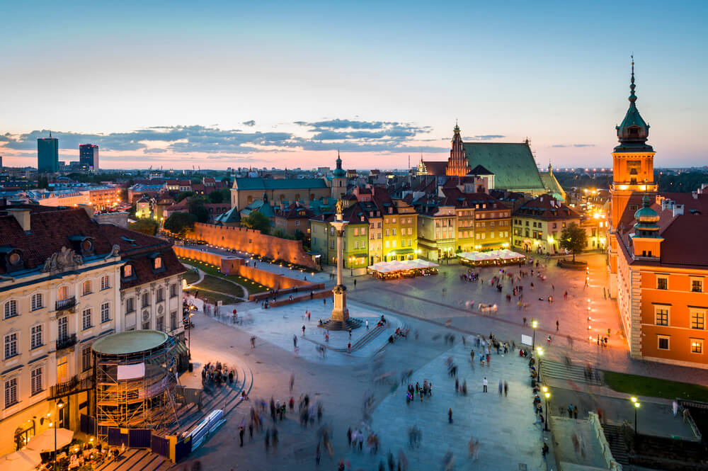 New York to Warsaw, Poland for only $453 roundtrip