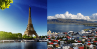 Toronto, Canada to Paris, France for only $488 CAD roundtrip (add a stop in Iceland for $21 CAD more)