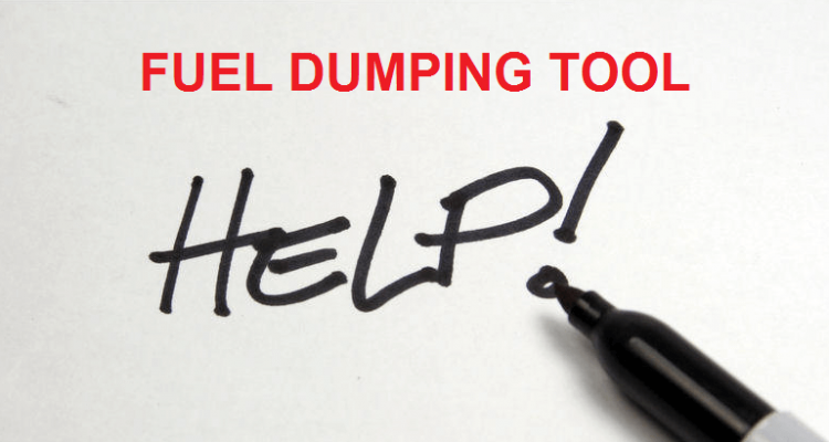 Fuel Dumping Tool: Step-by-step Guide   Secret Flying