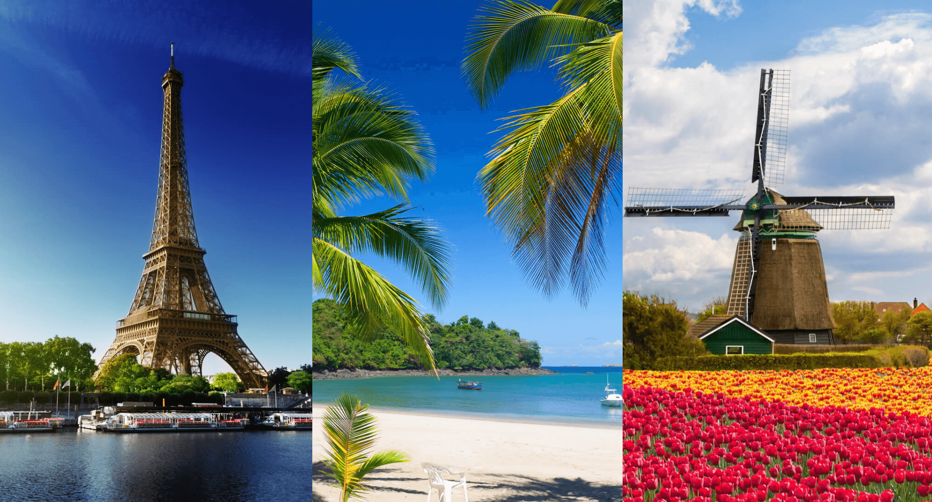 3 IN 1 TRIP: UK cities to the Netherlands, Panama and France from only £306 roundtrip