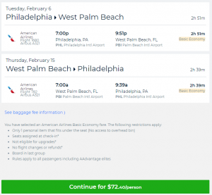 American Airlines West Palm Beach To Philadelphia