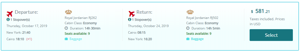 Expired New York To Cairo Egypt For Only 581 Roundtrip