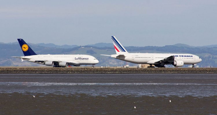 lufthansa and air france flights grounded amid mass public sector