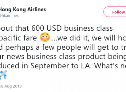 **GREAT NEWS!!** Hong Kong Airlines announce they will honour the Business Class Error Fare deal