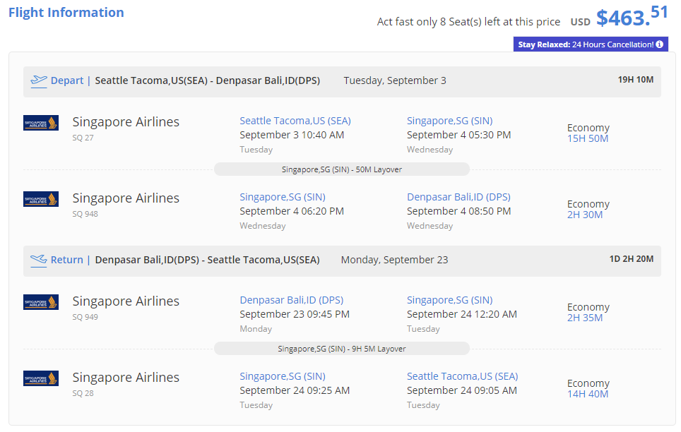 Seattle To Bali Indonesia For Only 463 Roundtrip