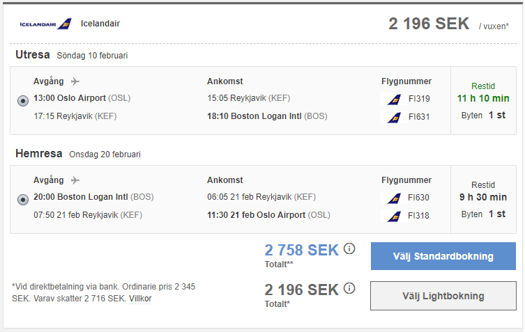 Secret Flying - Scandinavian cities to the USA from only