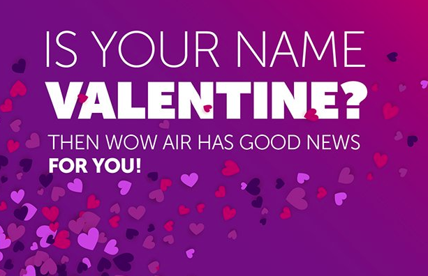 <div class='expired'>EXPIRED</div>PROMO: Free flights if you are called Valentine or Valentina | Secret Flying