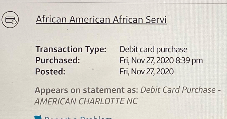 african american service charge